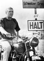 Steve McQueen on motorcycle