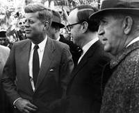 President John F. Kennedy in group