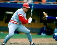 Pete Rose taking pitch