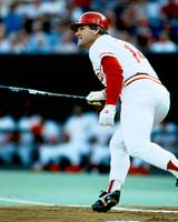 Pete Rose follow through