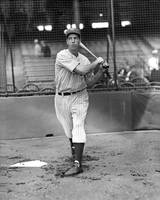 Joe DiMaggio swinging