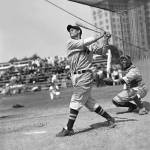 """Bobby Doerr hitting"" by RetroImagesArchive"