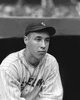 Bob Feller looks off to side