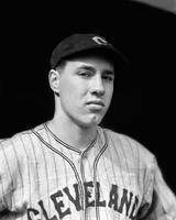 Bob Feller looking into camera