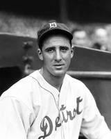 Hank Greenberg looking into camera