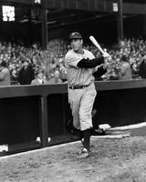 Hank Greenberg swinging outside dug out