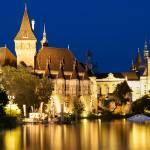 """Hungary - Vajdahunyad Castle blue hour- Budapest"" by UtaNaumann"