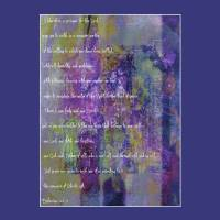 One Lord one Faith one Baptism-purple Art Prints & Posters by Elizabeth Mix