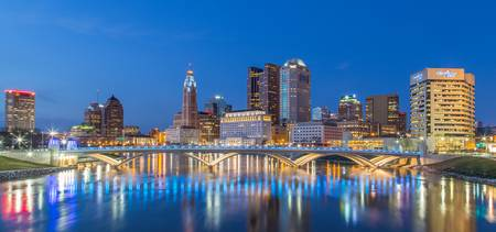 Columbus skyline panorama 2013 with 6d