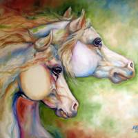 GENTLE SPIRITS EQUINE Art Prints & Posters by Marcia Baldwin