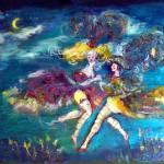 """VENETIAN MASQUERADE / DANCING IN THE NIGHT"" by BulganLumini"