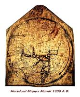 Hereford Mappa Mundi 1300 Medium Large White Borde