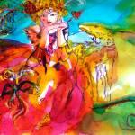 """MIRANDOLINA  / Venetian Carnival Masks"" by BulganLumini"