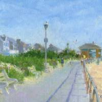 Spring Lake New Jersey Pavilion Art Prints & Posters by Kevin Crozier