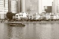 Singapore River, monochrome