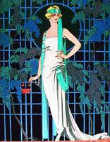 RED ROSES IN THE NIGHT, ART DECO BEAUTY FASHION