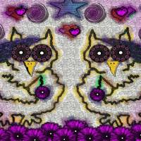 Emo Owls Art Prints & Posters by Pepita Selles