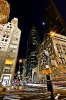NYC Midtown Street Scene at Night