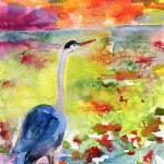 """Where Blue Herons Dream Watercolor by ginette"" by GinetteCallaway"