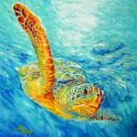 """""""Sea turtle"""" by Liliya_Chernaya"""