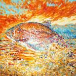 """Trout at sunset"" by Liliya_Chernaya"