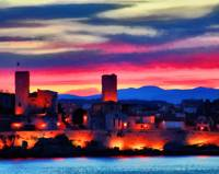 Antibes at sunset