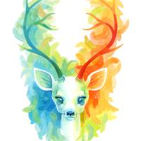 Feather Fawn Art Prints & Posters by Indre Bankauskaite