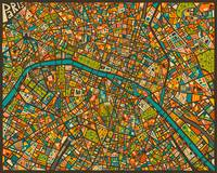 Paris Street Map
