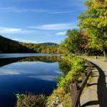 """Hessian Lake, Bear Mountain Autumn Scene"" by New-Yorkled"