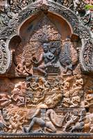 Wall carvings in Angkor Wat Cambodia