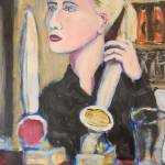 """barmaid in city vaults bradford"" by markrobbart"
