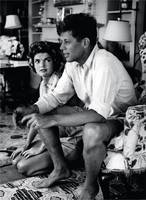 John F Kennedy and Jackie Onassis