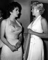 Marilyn Monroe and Gina Lollobrigida