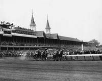 1960 Kentucky Derby Horse Racing Vintage
