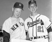 Warren Spahn with Whitey Ford