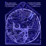 """Hereford Mappa Mundi Latin Text Neg Image Lrg Blue"" by TheNorthernTerritory"