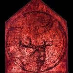 """Hereford Mappa Mundi Red Tint Small Black Border"" by TheNorthernTerritory"