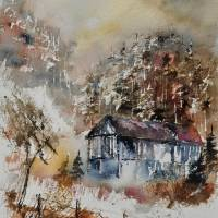 watercolor  414051 Art Prints & Posters by pol ledent