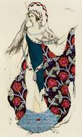 Costume design for a woman, from Judith