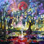"""""""Crimson Moon Garden of Good and Evil"""" by GinetteCallaway"""