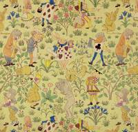 Textile design for 'Alice in Wonderland'