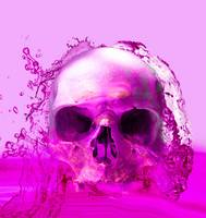PURPLE SKULL IN WATER