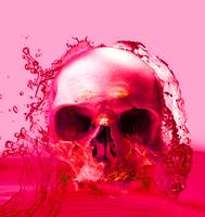 RED SKULL IN WATER