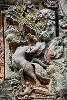 Wall carvings at Angkor Wat Cambodia