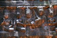 Wall carving in the Angkor Wat temple, Cambodia