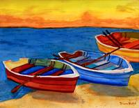 3 Rowboats A-shore