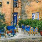 """St. Emilion Cafe (2013_03_28 22_23_02 UTC)"" by DianaNadalFineArt"
