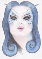 Blue Butterfly Girl