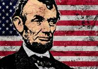 ABRAHAM LINCOLN-OLD GLORY