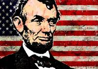 ABRAHAM LINCOLN-OLD GLORY 2